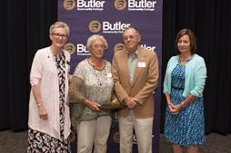 Elsie and Gerald Haines are recognized for their planned gift to Butler Community College.